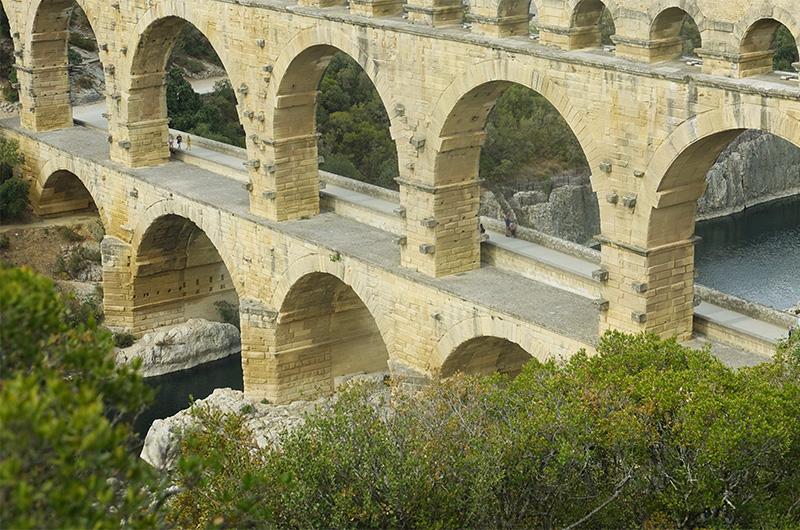 Le pont du Gard - côté ouest
