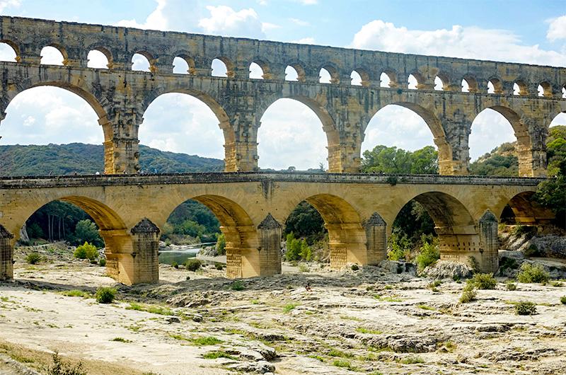 Le pont du Gard - côté est